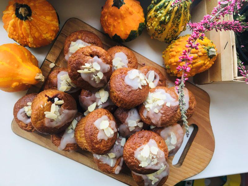 muffiny w jesiennej aranżacji